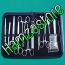 12 PIECES STUDENT / PROFESSIONAL DISSECTING KIT IN LEATHER CASING-BRAND NEW